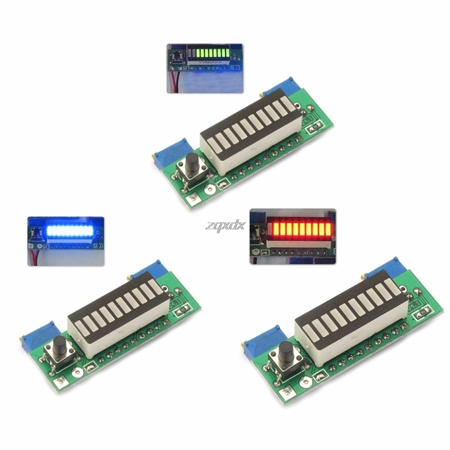 LM3914 3.7V Lithium Battery Capacity Indicator Module Tester LED Display Board Integrated Circuits Whosale&Dropship