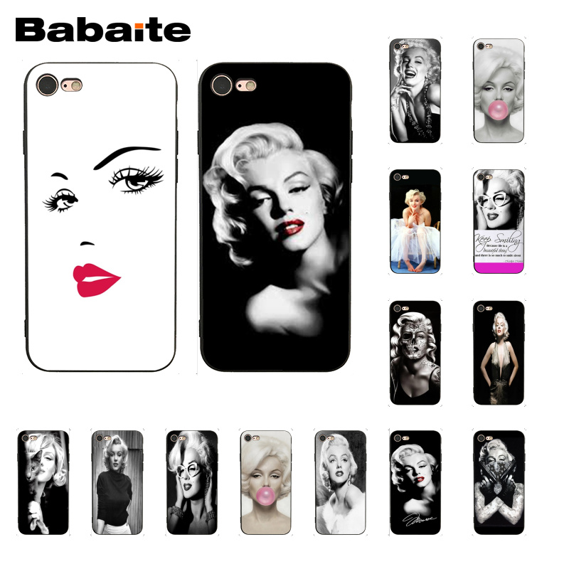 Babaite <font><b>Sexy</b></font> <font><b>Girls</b></font> Marilyn Audrey Hepburn Friend Monroe Phone <font><b>Case</b></font> for <font><b>iphone</b></font> 11 Pro 11Pro Max 8 <font><b>7</b></font> 6 6S Plus X XS MAX 5S SE XR image