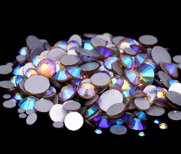 Lt.C. Топаз AB ss3,ss4,ss5,ss6,ss8,ss10,ss16,ss20,ss30 плоский кристалл без горячей фиксации клей для дизайна ногтей на Стразы Украшения