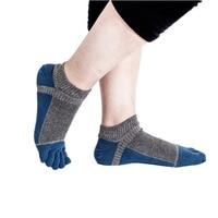 Sunnyrain Unisex 1Pairs Cotton Five Finger Toe Socks Athletic Patchwork Breathable Outdoor Socks Hot Sports Socks FS
