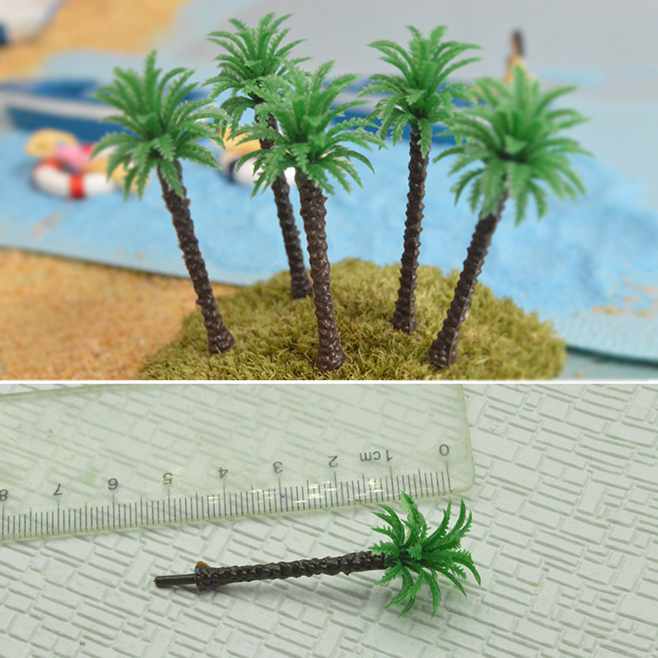 Architecture  Scale  Model Miniature Palm Tree 30mm Artificial Model Palm Tree