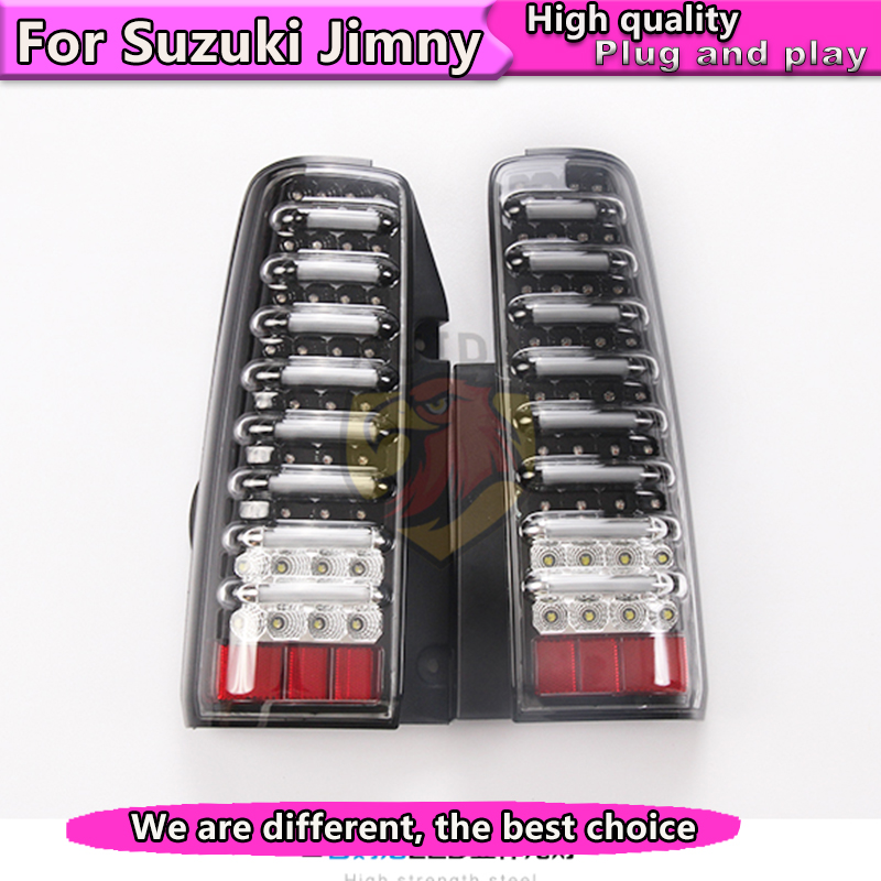 Автомобильный Стайлинг задняя лампа 2007 2015 для Suzuki JIMNY jb43 задний фонарь стояночный тормоз поворотник Замена огней + тормоз + парк