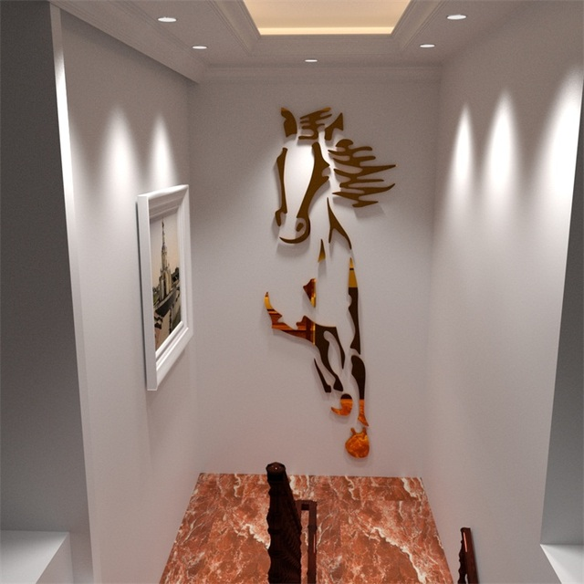 Nieuwe collectie Paarden woonkamer Acryl 3d Muursticker