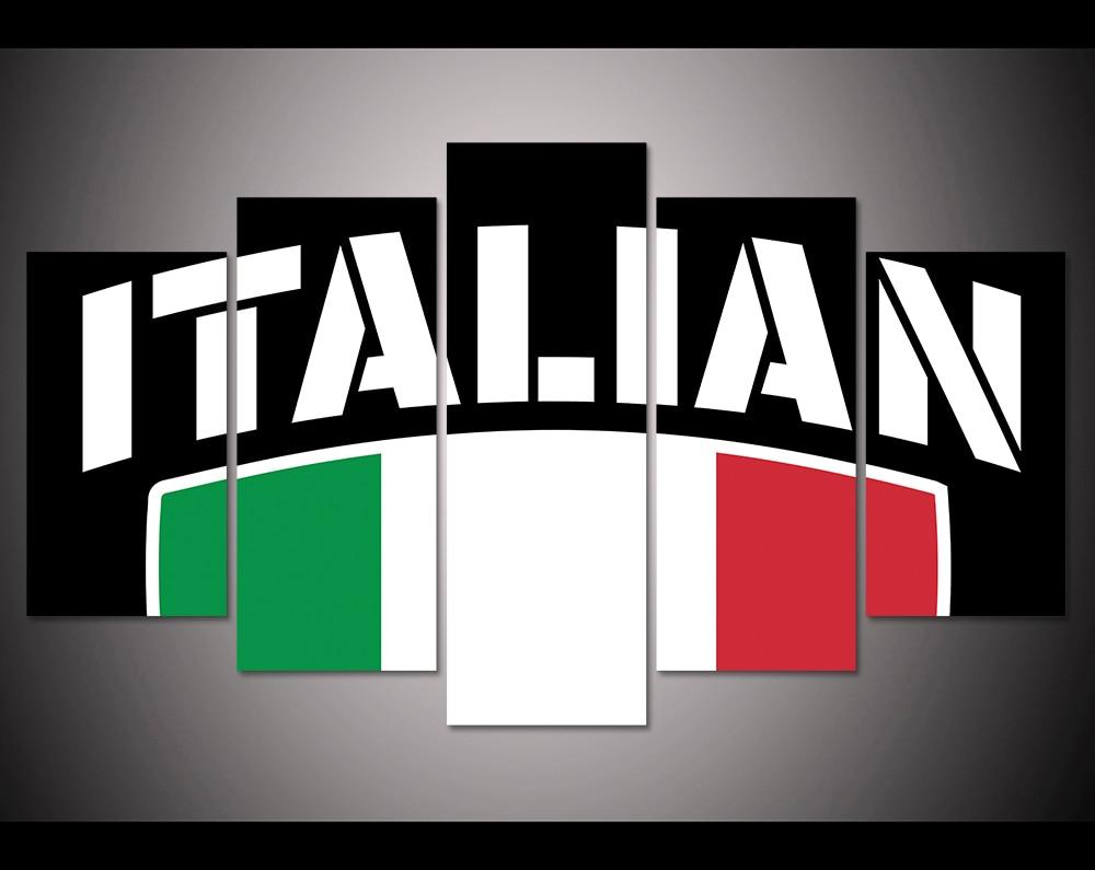 hd imprimir unidades bandera italiana lienzo arte de la pared de impresin pintura for living