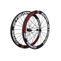 High Quality 50mm Clincher Carbon Wheelset 700C Road Bicycle With Powerway R13 Hub Full Carbon Clincher