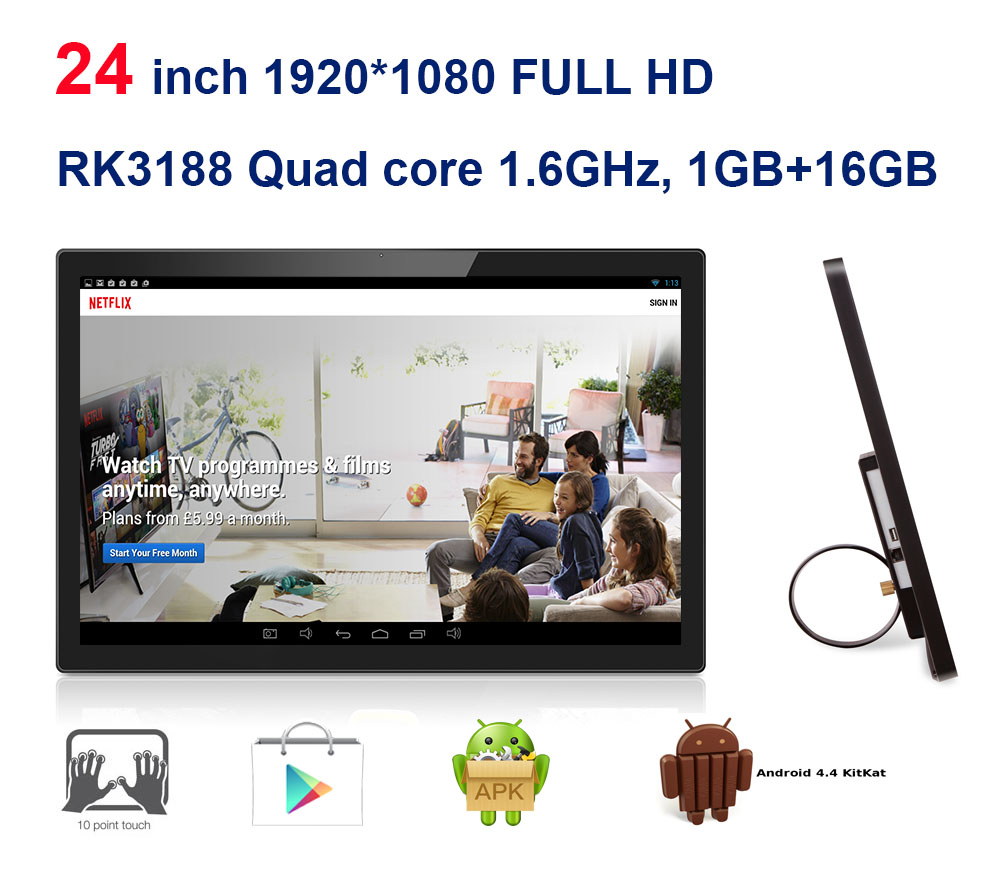 24 Zoll Android Alle In Einem Pc Kiosk Smart Tv 3 In 1 Touch