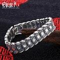 Polonês mão cadeia beier 925 pulseira de prata do vintage do punk homem pulseira elo da cadeia dos homens acessórios jóias sctysl0182