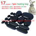 17pcs/set thicken new type basalt stone massager body massage stone set Salon SPA with 220V heating bag CE and ROHS