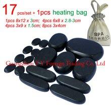 17pcs/set thicken new type basalt stone massager body massage stone set Salon SPA with 220V heating bag CE and ROHS