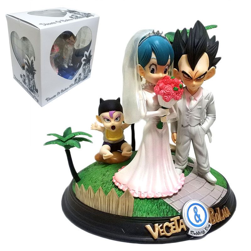 26cm Vegeta Dragon Ball Figure Vegeta Bulma Wedding Day Trunks Dragon Ball Super Action Figures DBZ Collection Toys Wedding Gift top bulma bunny girl dragon ball japanese anime figures action