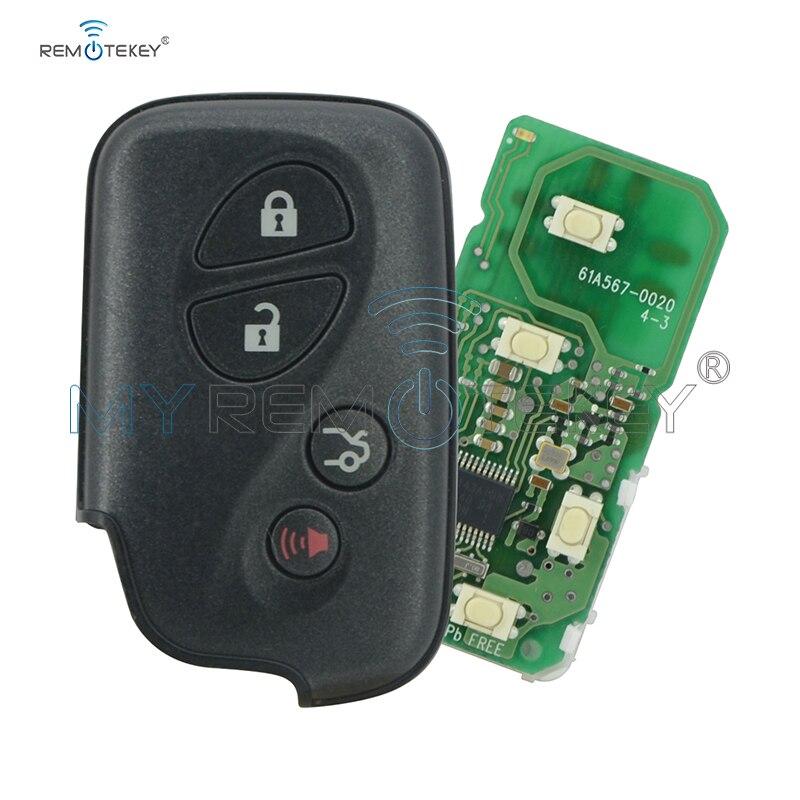Remtekey 61A567-0020 OEM clé de voiture intelligente 4 boutons 434 mhz pour Lexus clé à distance intelligente sans clé
