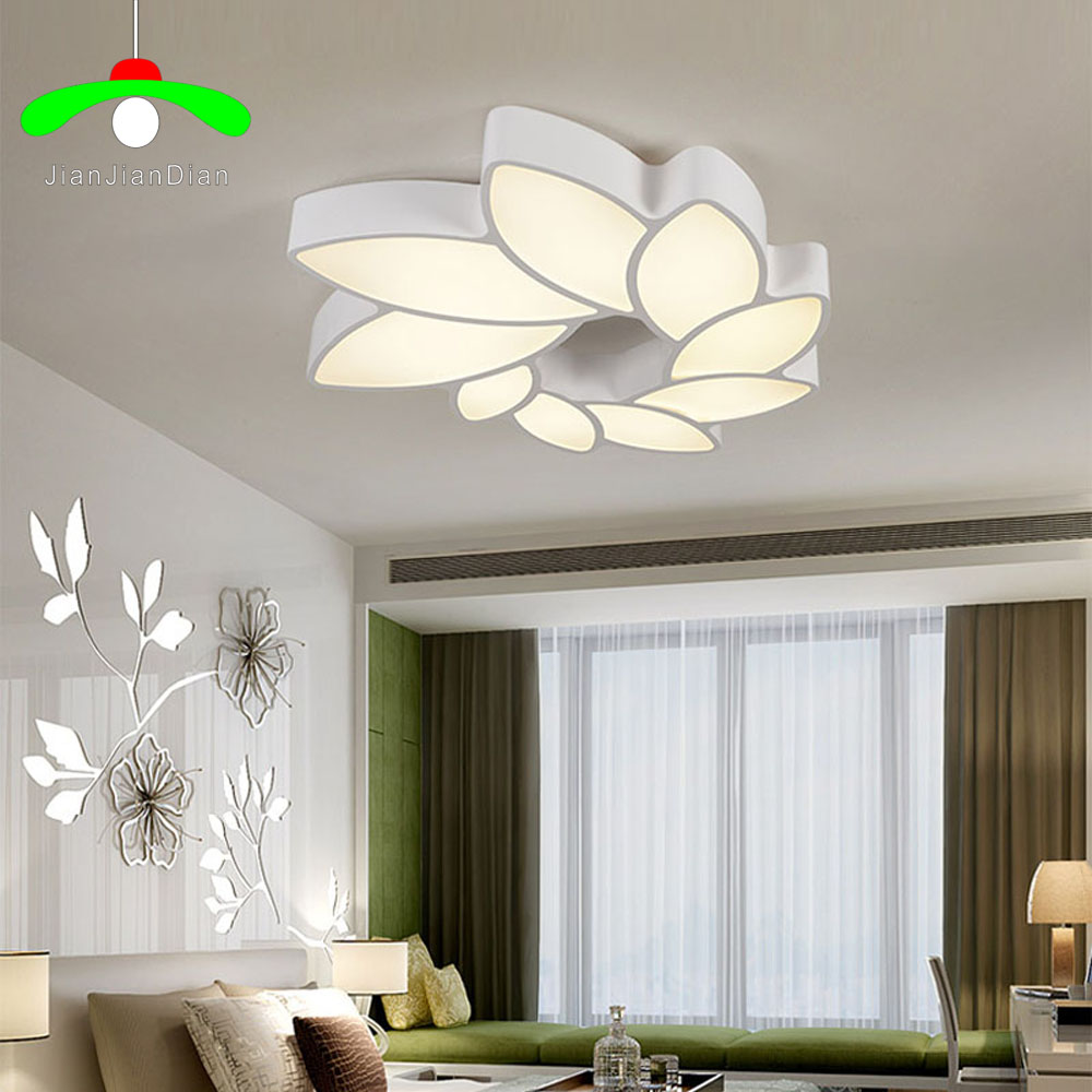 Indirect Lighting Techniques And Ideas For Bedroom Living: Modern Living Room Lamp Dimmable LED Ceiling Light
