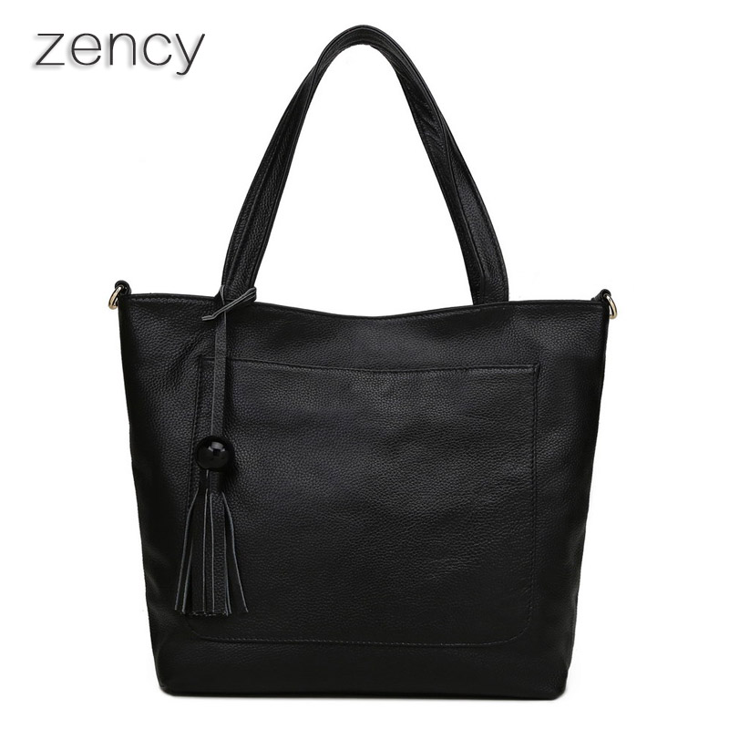 ФОТО Soft Nautral Genuine Leather Women's Shoulder Bags Tassels Handbags Ladies Messenger Bag Satchel Bolsos Bolsas