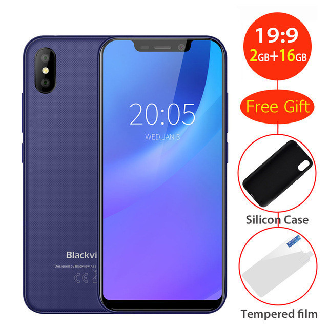 2018 Оригинал BLACKVIEW A30 смартфон 19:9 5,5 FHD 2500 мАч Android 8,1 2 ГБ Оперативная память 16 ГБ Встроенная память mt6580a четыре ядра 8MP мобильный телефон 3G