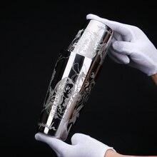 550 мл/850 мл гравировка нержавеющая сталь коктейль Бостонский бар шейкер Бар Инструмент