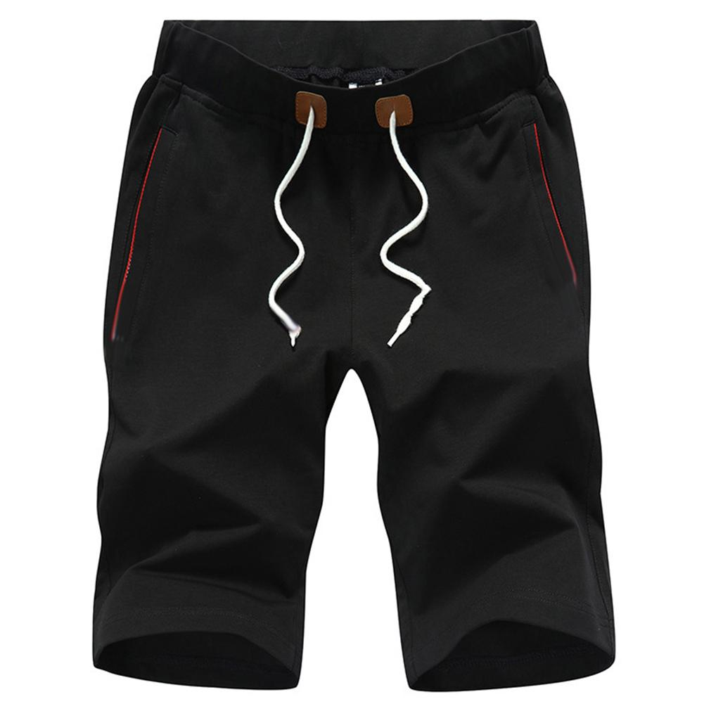 Sports Jogging Men Plus Size Solid Color Shorts Drawstring Fitness Fifth Pants New