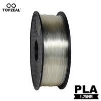 TOPZEAL Clear Transparent 3D Plastic Filament PLA Filament 1.75mm 1KG Dimensional Accuracy +/ 0.02mm 3D Printing Materials