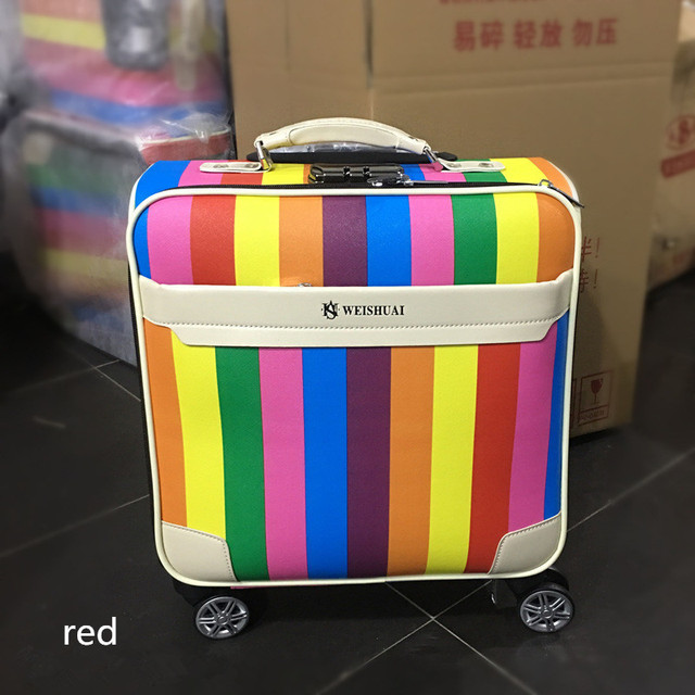 Travel Suitcase Women Trolley Bags Spinner Wheels Rolling Luggage Boarding