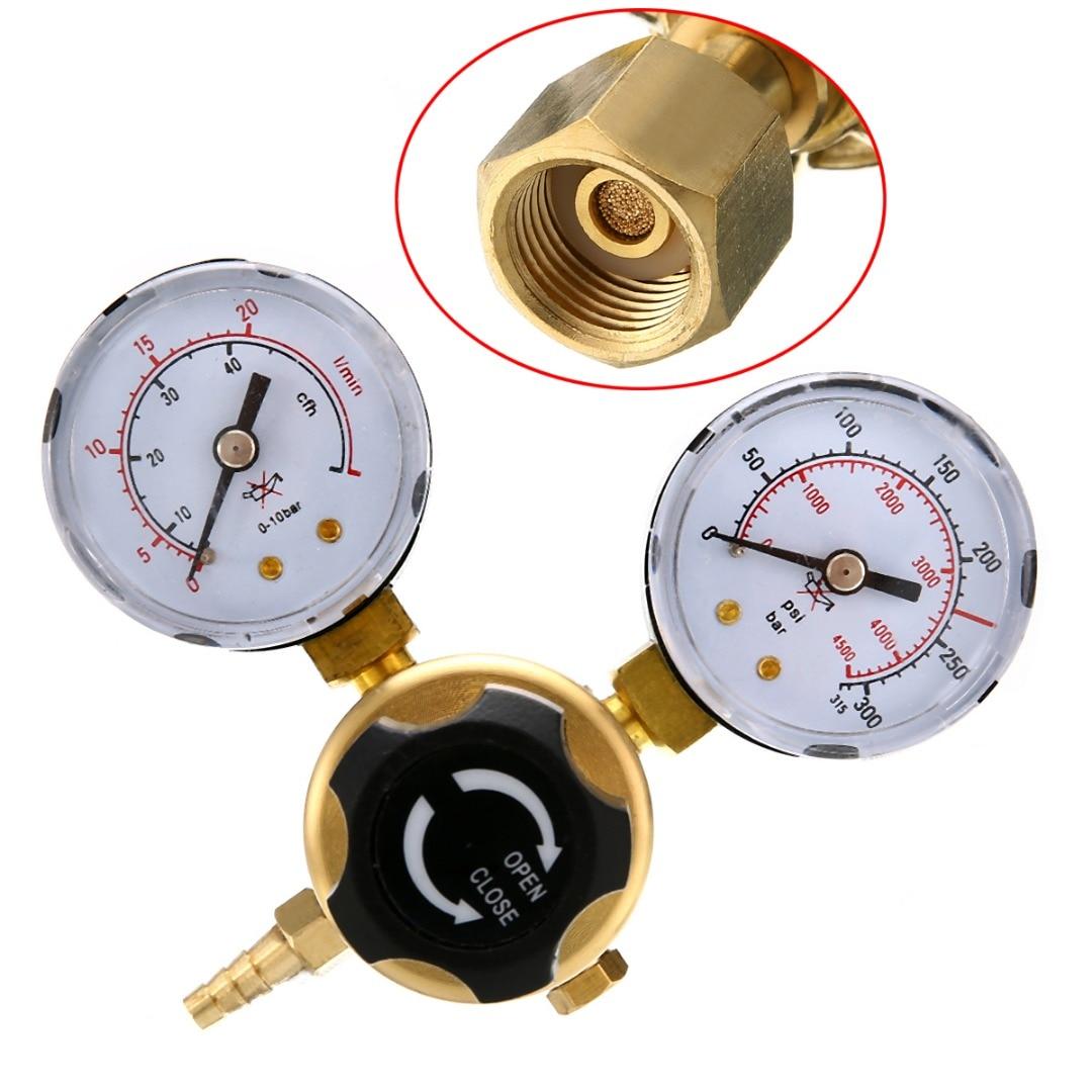 1pc Argon Arc Welding Flowmeter CO2 Gas Pressure Regulator MIG TIG Welding Flow Meter Gauge W21.8 lzb 15 glass rotameter rotor flowmeter for gas