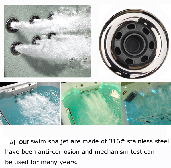 stainless steel spa pool 5 inch storm swimming jet 5\