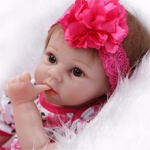 22 inch 55cm  baby reborn Silicone dolls, lifelike doll reborn babies  for  Children's toys Beautiful princess doll