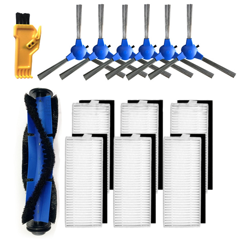 14 Uds accesorios de vacío filtros brochas Kit de repuesto Compatible con Eufy Robovac 11S 30 30C 15C 12