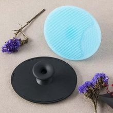 2017 Color Random New Facial Exfoliating Brush Infant Baby Soft Silicone Wash Face Cleaning Pad Skin SPA Scrub Cleanser Tool(China)