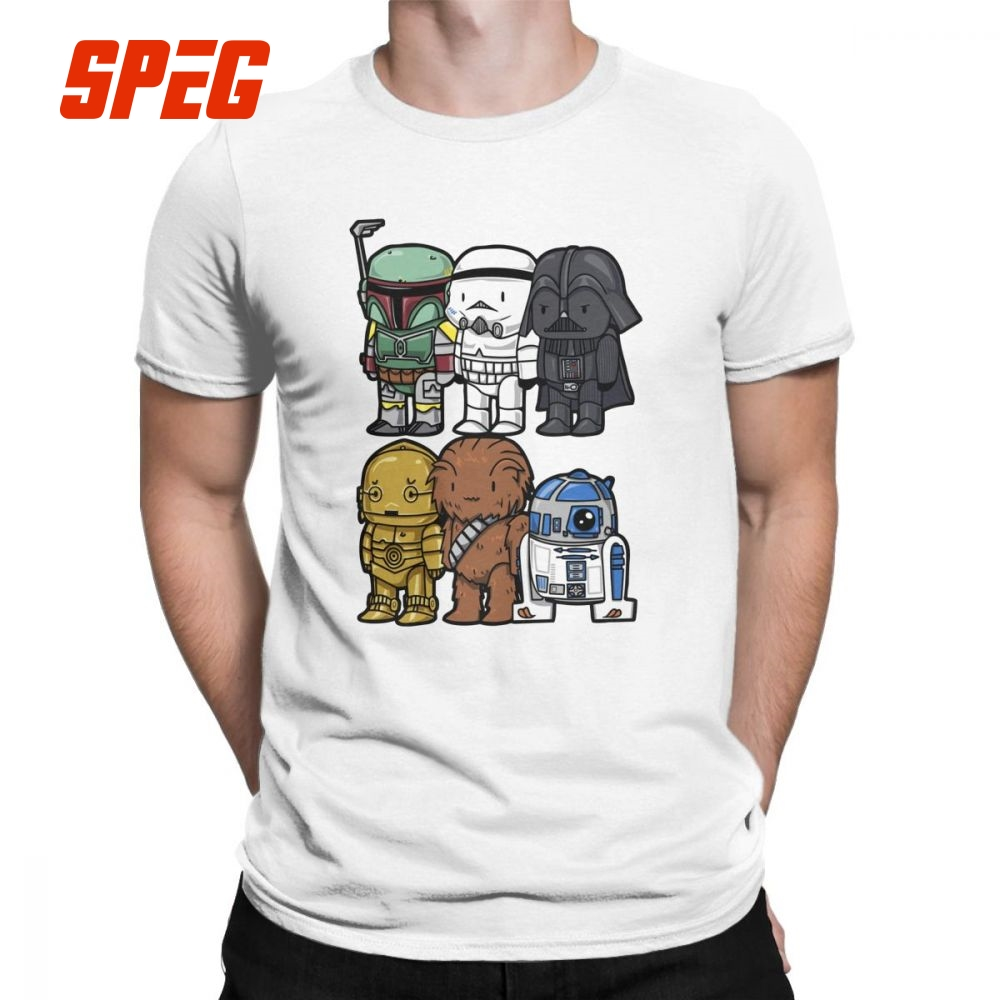 Star Wars Men's T-Shirt Darth Vader Printed Humor Tees Crew Neck Short  Sleeve Clothes 100% Cotton Funny T Shirts for TeenBoys