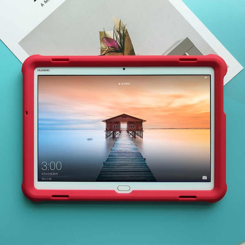 MingShore Rugged Durable Cover For Huawei MediaPad M3 Lite 10 10.1inch BAH-W09/L09/AL00 Silicone Protective Tablet Case