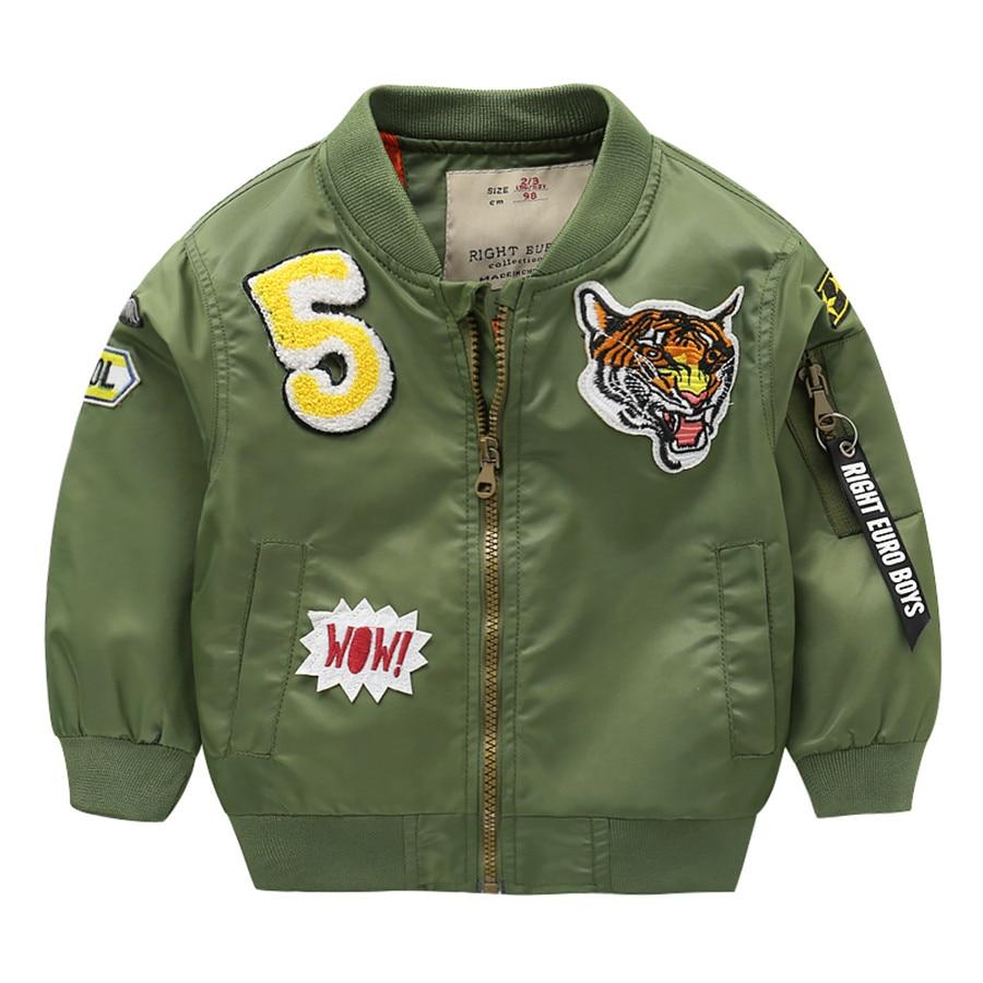 Brand Jackets For Boy Coat Boys Baseball Bomber Jacket Children's Jacket Spring Autumn Outwear For Kids Pilot Jacket