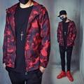 Men's 2016 new spring coat jacket camouflage jacket Spring tide male models fall  Korean version of cool