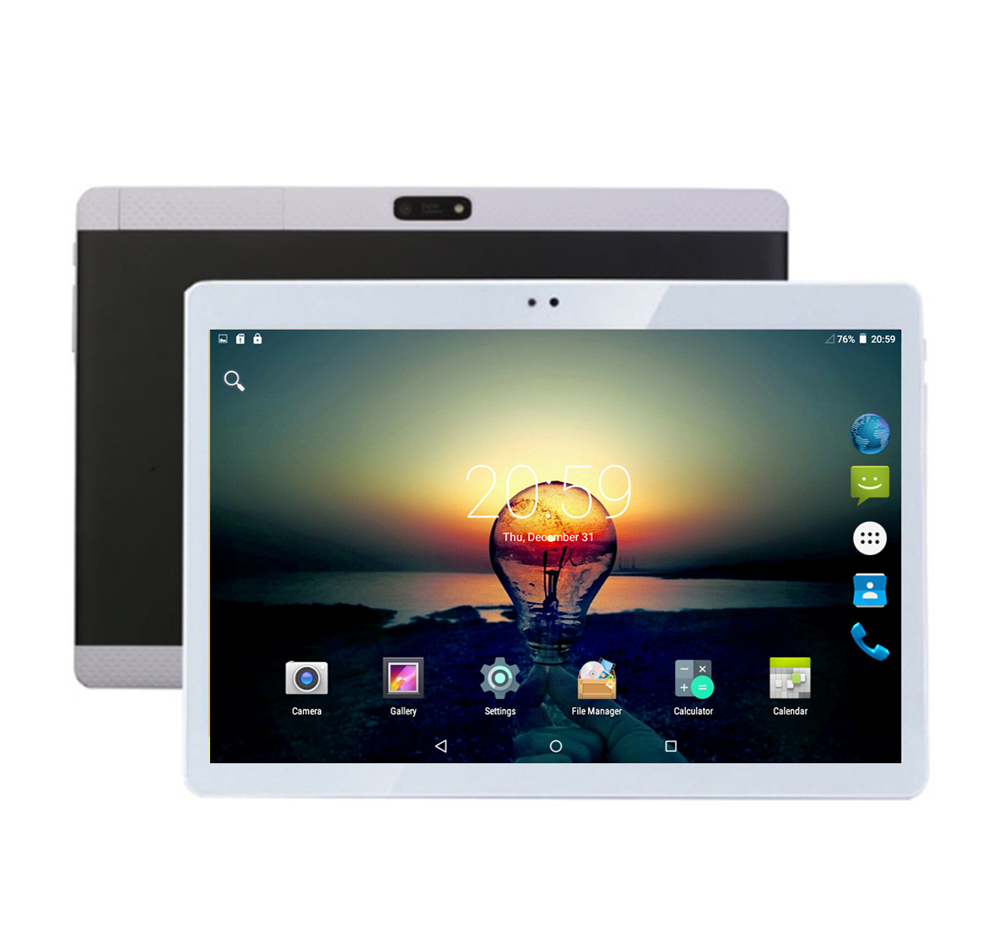 BMXC Android 7.0 10 inch Tablet 3G 4G Lte Tablet PC Octa Core 4G RAM 32GB ROM Dual SIM slots Dual Camera Tablets 10 10.1 + Gift 你好 法语4 学生用书 配cd rom光盘