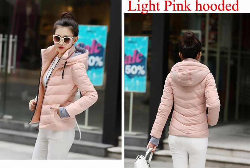 Winter Jacket Women Parkas Thicken Outerwear solid hooded Coats Short 41