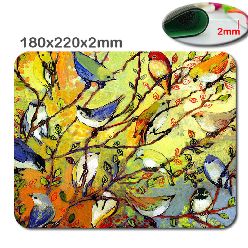 Книги по искусству дерева птица 220 мм * 180 мм * 2 мм Объёмный рисунок (3D-принт) игровой коврик цвета Notbook компьютерная мышь коврик для мыши padmouse н... ...
