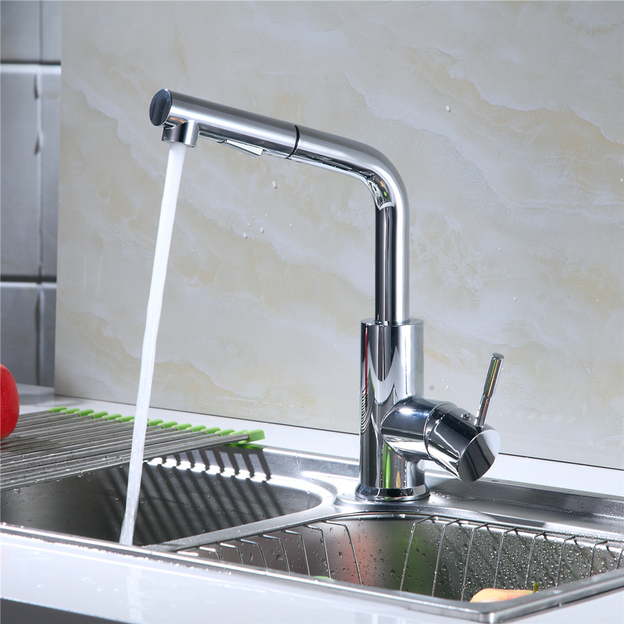 Usherlife LEAD FREE Pull Out Kitchen Faucet NSF certified ABS No Lead Health Water Faucets 360