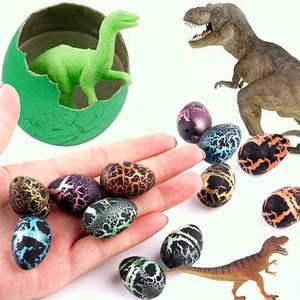 Growing Toy Egg-Hatching Action-Figure Dinosaur-Eggs Water Kids Add 10pcs/Lot Cracks