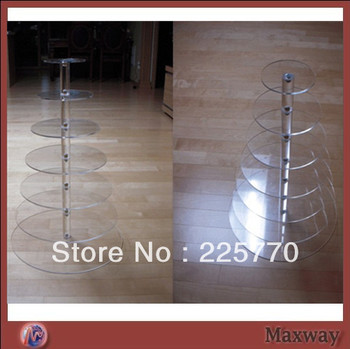 Free shipping 7 Tier Acrylic Cupcake Stand wedding decoration
