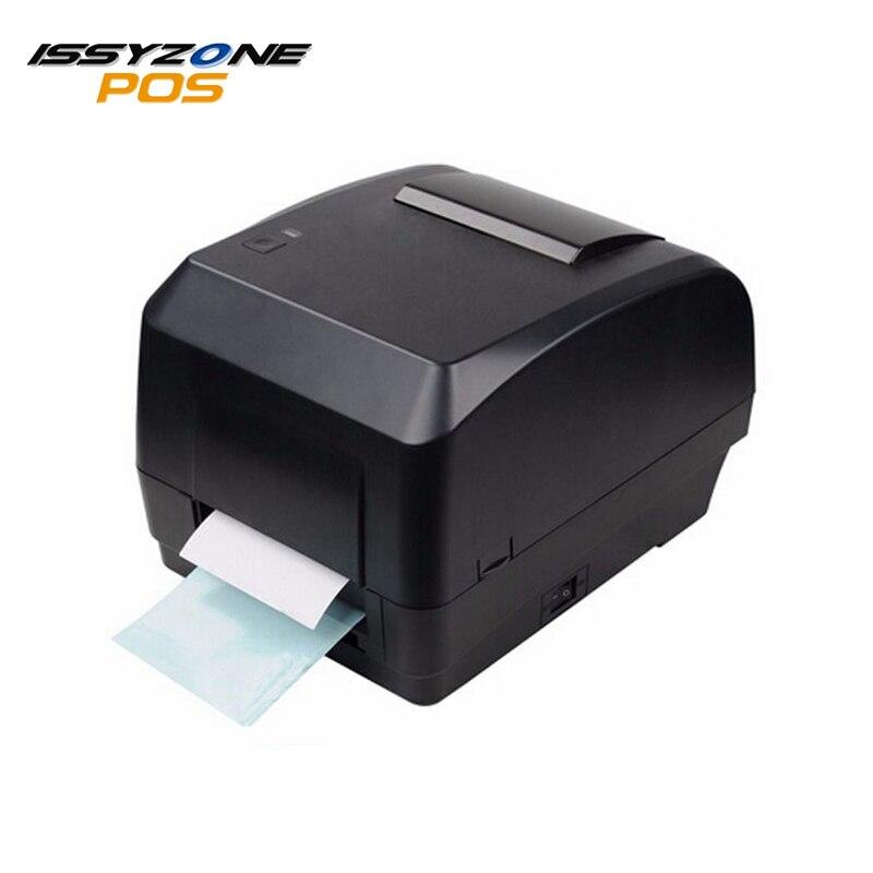 Issyzonepos 4 термальность передачи принтер штрих кода на этикетке Бесплатная штрих код по USB цена ювелирные изделия тег POS логистический розница