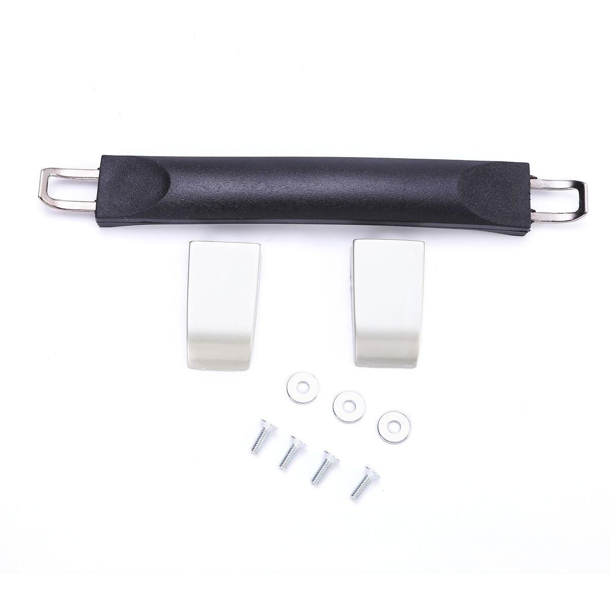 1 Set Luggage Case Handle Broken Replace Repair Tools Mayitr Suitcase Spare Strap Grip Black+Silver