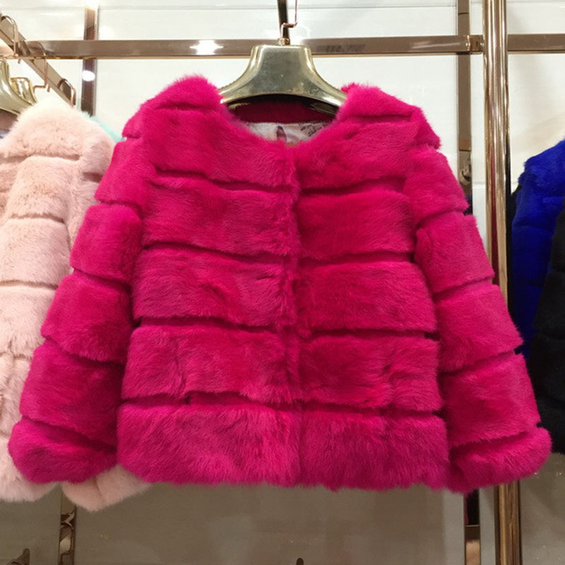 Jackets & Coats Energetic Europe And America Womens Christmas Halloween Faux Fur Jacket Coats Led Lantern Stage Pack Rainbow Jacket White S-3xl Faux Fur High Quality