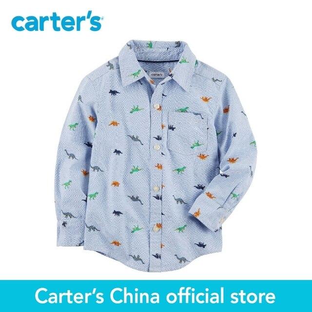 033dfdf2f Carter 1 sola pieza bebé niños ropa Primavera Verano dinosaurio Oxford  camisa Button-Front 243H479