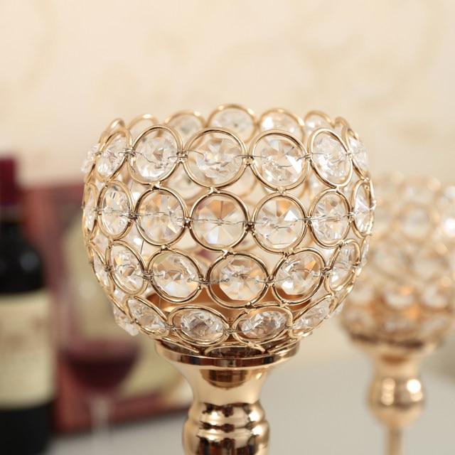 Kristall Kerzenhalter Set Metall Leuchter Hochzeit Party Kerze Stand Tisch  Mittelstücke Home Urlaub Dekoration Leuchter