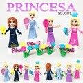 Conto de fadas Da Princesa Menina jg115-116 8 pçs/lote ABS Building Block Define Brinquedos Para As Crianças Presentes de Natal para Crianças