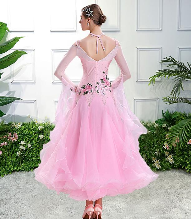 Image 5 - vestiti da ballo standard donna waltz dress   vals dance dress kadın standard ballroom dress green red customize-in Ballroom from Novelty & Special Use