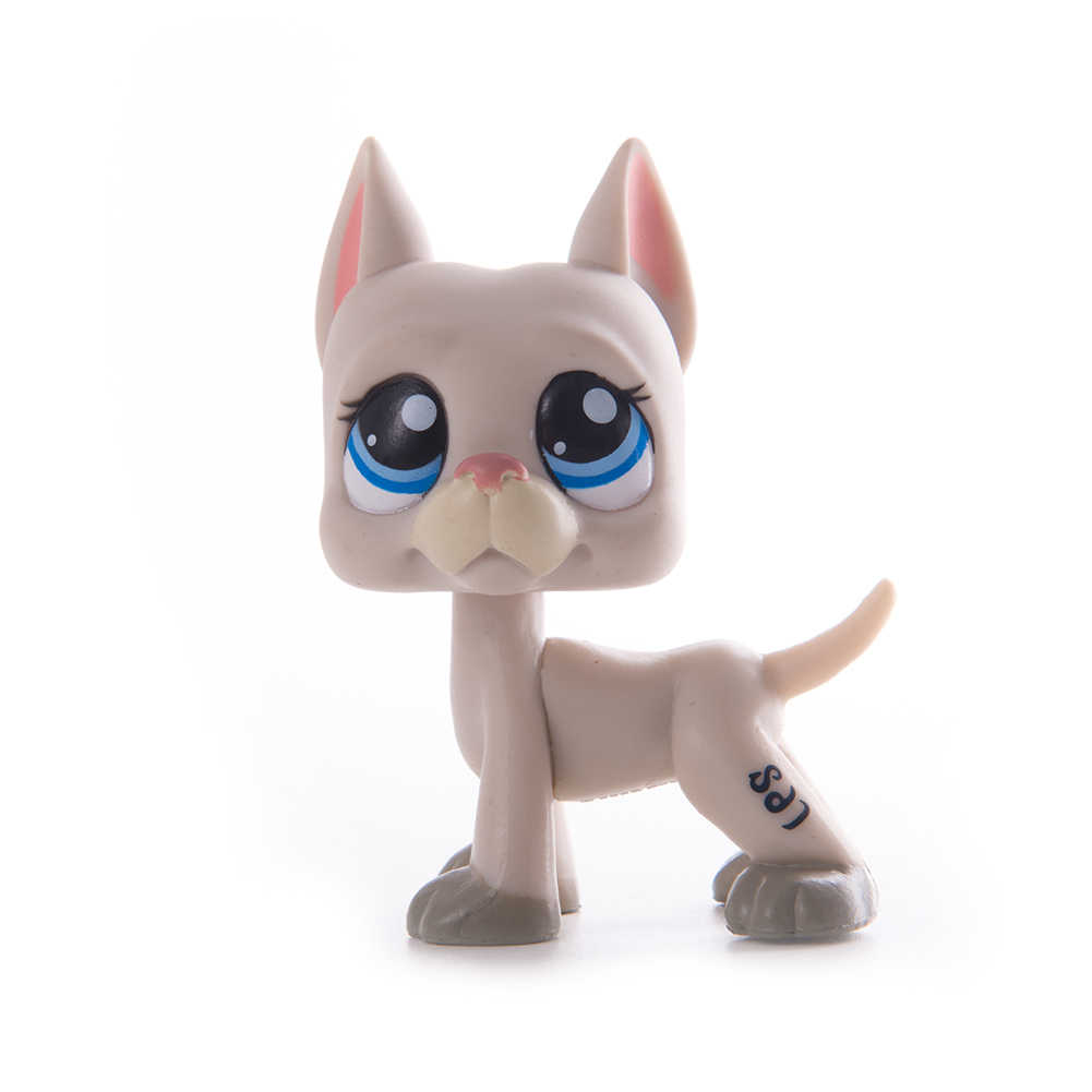New rare animais lps pet shop brinquedo dachshund cão marrom 556 675 original figura collie cocker spaniel great dane criança presentes