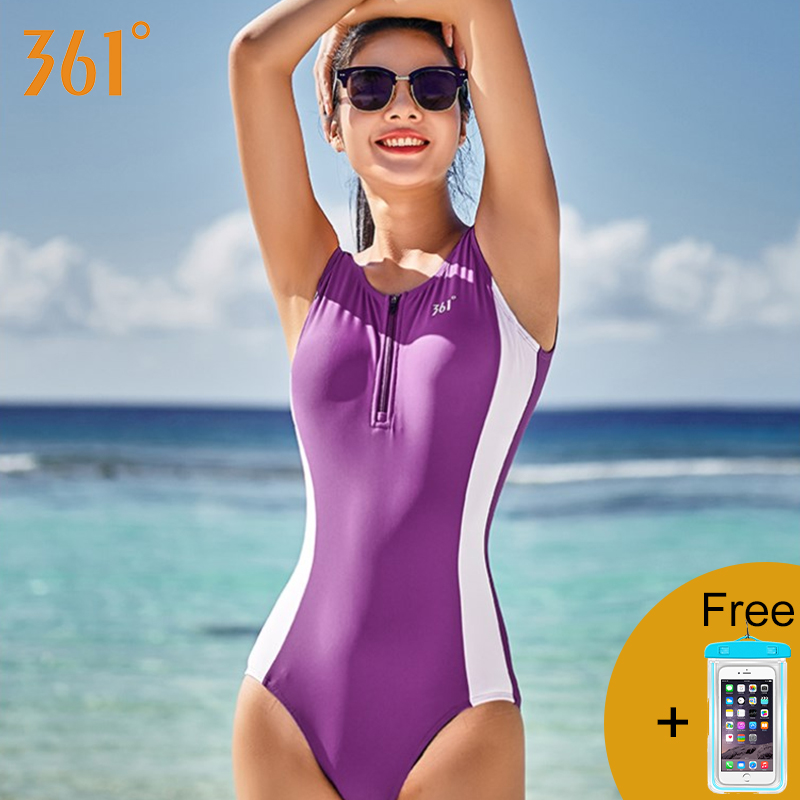 361 Swimsuit for Women One Piece Bathing Suits M-2XL Athletic Swimwear Sports Swimming Suit Girls Bathing Suit Female Swimwear