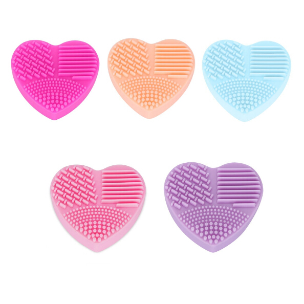 3pcs Clean Make up Brushes Wash Brush Silica Glove Scrubber Board Cosmetic Cleaning Tools for makeup brushes  Heart Shape  3pcs 3 175x15mm up
