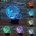 NFL Houston Texans 3D Night Light 1 Set Free Shipping 7 Colors Change LED Table Lamp Xmas Gift Creative Night Lamp