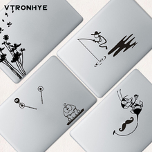 PVC Partial Laptop Skin Sticker for Apple Macbook Air Retina 11 13 15 fished man Laptop Cover Sticker For Macbook 2016 Pro 13 15