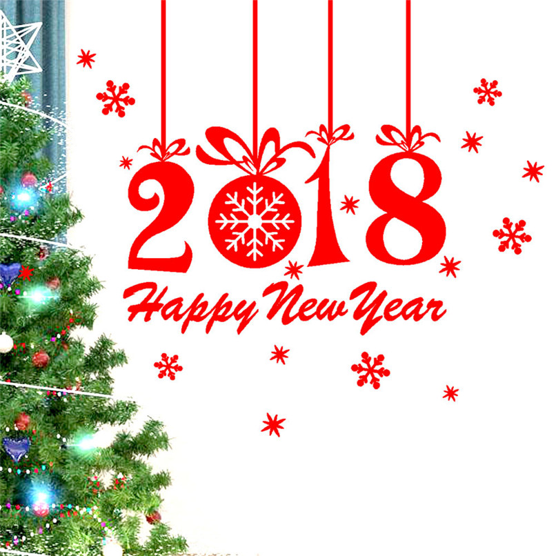 Aliexpress Com Buy New Year 2018 Merry Christmas Wall